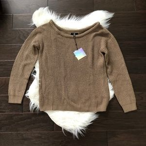 [Missguided] Oversized Open Neck Knit Sweater
